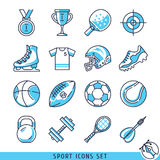 Sportpictogrammen geplaatst vectorillustratie Royalty-vrije Stock Afbeeldingen
