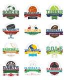 Sportpictogrammen - reeks Stock Afbeeldingen