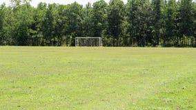Sportplatzkonzept - Fußball Lizenzfreies Stockbild