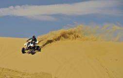 Sportquad in sabbia Fotografia Stock Libera da Diritti