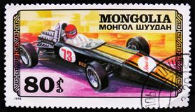 sportraceauto, Autorennen serie, circa 1978 Stock Afbeelding