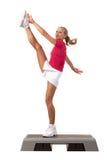 Sportreeks: Stapaerobics Stock Foto