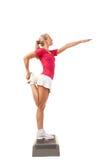 Sportreeks: Stapaerobics Stock Afbeeldingen