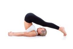 Sportreeks: yoga Royalty-vrije Stock Afbeeldingen