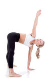 Sportreeks: yoga Stock Fotografie