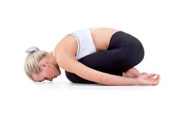 Sportreeks: yoga Childs stelt Stock Afbeelding