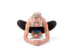 Sportreeks: yoga De hoek stelt Royalty-vrije Stock Foto