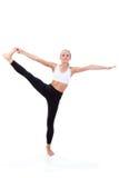 Sportreeks: yoga Hand aan Groot Toe Pose Royalty-vrije Stock Afbeeldingen