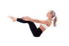 Sportreeks: yoga saldo Royalty-vrije Stock Foto
