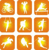 Sports 1. Set of 9 symbolic sport icons Stock Images