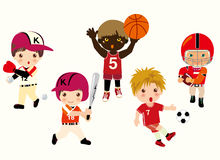Sports. Vector illustration of  sports  boy Royalty Free Stock Photo