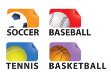 Sports. A set of sport tags Stock Photos
