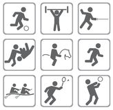 Sports. Set of sport icons. Illustration for you design Stock Photo