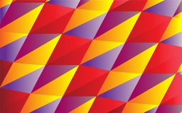 Sports abstraction of triangles. Geometric abstract pattern of multi-colored triangles Royalty Free Stock Photos