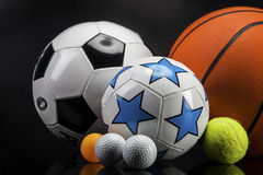 Sports accessories. paddles, sticks, balls and more. Sports accessories. paddles, sticks, balls and a lot of fun Royalty Free Stock Photos