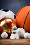 Sports accessories. paddles, sticks, balls and more. Sports accessories. paddles, sticks, balls and a lot of fun Stock Photos