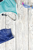 Sports accessories for swimming. Stock Image