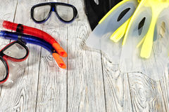 Sports accessories for swimming. Royalty Free Stock Photography