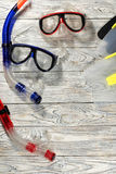 Sports accessories for swimming. Royalty Free Stock Photo