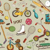 Sports and action games pattern Royalty Free Stock Images