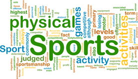 Sports activities background concept. Background concept illustration of sports physical activities Stock Images