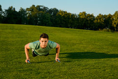 Sports activities on the nature. Royalty Free Stock Photography