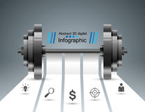 Sports activity. Business infographics. Barbell icon. Stock Image