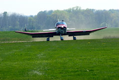 Sports Airplane. A sports airplane after landing Royalty Free Stock Image