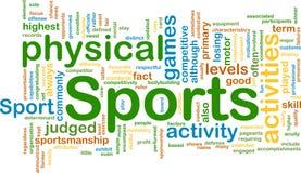 Sports Aktivitätshintergrundkonzept Stockbilder