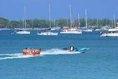 Sports aquatiques au St Lucia, des Caraïbes Photos libres de droits