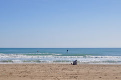 Sports aquatiques dans la plage Photos stock
