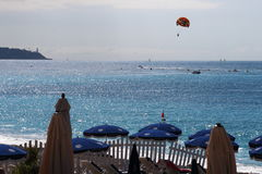 Sports aquatiques le long de la Côte d'Azur, Nice Images libres de droits