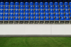 Sports arena. Detail of an empty sports arena in sunshine Royalty Free Stock Images