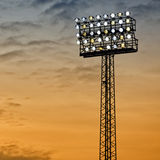 Sports Arena Floodlight. A typical stadium or sports arena floodlight lights the way Stock Image