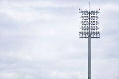 Sports arena floodlights Royalty Free Stock Images