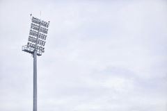 Sports arena floodlights Royalty Free Stock Image