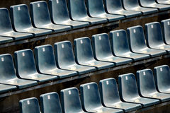 Sports arena seats Royalty Free Stock Photography