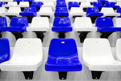 Sports arena seats Stock Photos