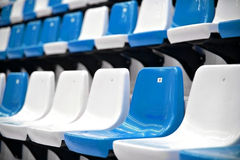 Sports arena seats Royalty Free Stock Image