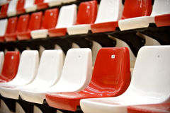 Sports arena seats Stock Images