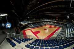 Sports arena view. Multifunctional indoor arena meant for concerts, events and sports Royalty Free Stock Photos