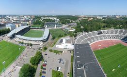 Sports arenas aerial Stock Photo