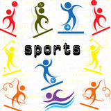 Sports Athletes icon men`s set Royalty Free Stock Photography