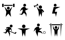 Sports and athletics icon set Stock Photo