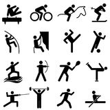 Sports and athletics icons Stock Photography