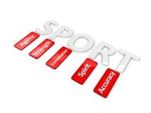 Sports attributes Stock Images
