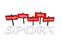 Sports  attributes Stock Photography