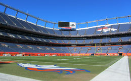 Sports Authority Field at Mile High. In Denver, Colorado, home of the NFL's Denver Broncos royalty free stock images
