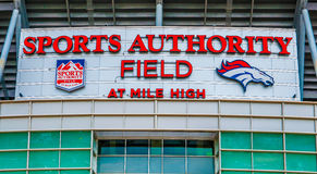Sports Authority Field at Mile High Stock Photography