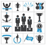 Sports award icons Royalty Free Stock Images